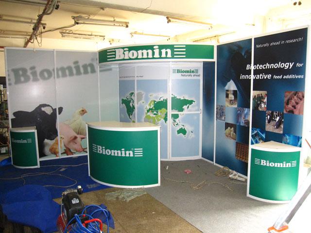 Выставочный стенд для компании Biomin