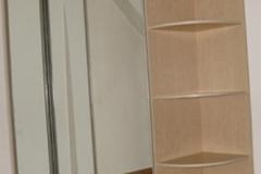 Зеркальный шкаф-купе трехсекционный с раздвижной системой