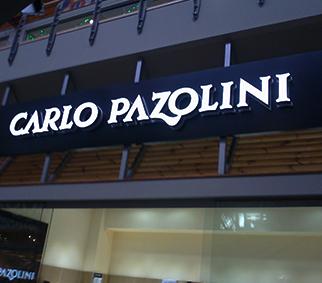 Вывеска с объемными буквами CarloPazolini