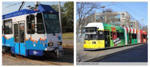 Примеры рекламы на трамваях