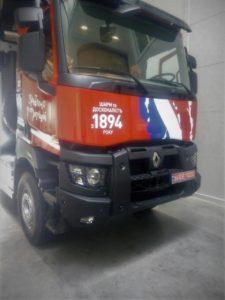 Брендирование грузового транспорта, реклама на транспорте, фото