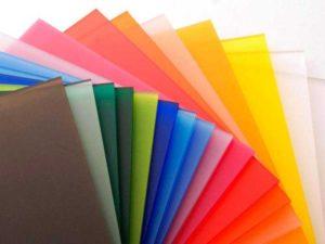 Разноцветное акриловое стекло для интерьерного декорирования фото