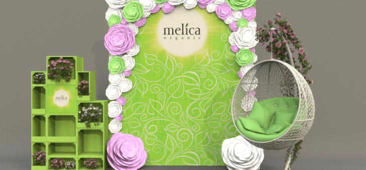 Оформление фотозоны для ТМ Melica Organic