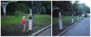 Ростовые фигуры, двусторонние макеты бутылок, фото