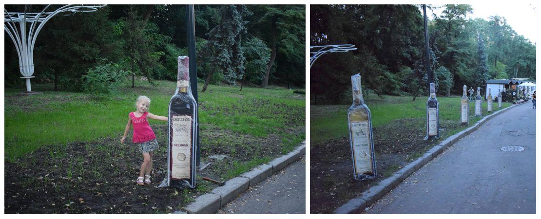 Ростовые фигуры, двусторонние макеты бутылок